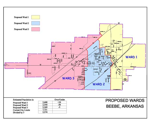 Beebe Ward Map